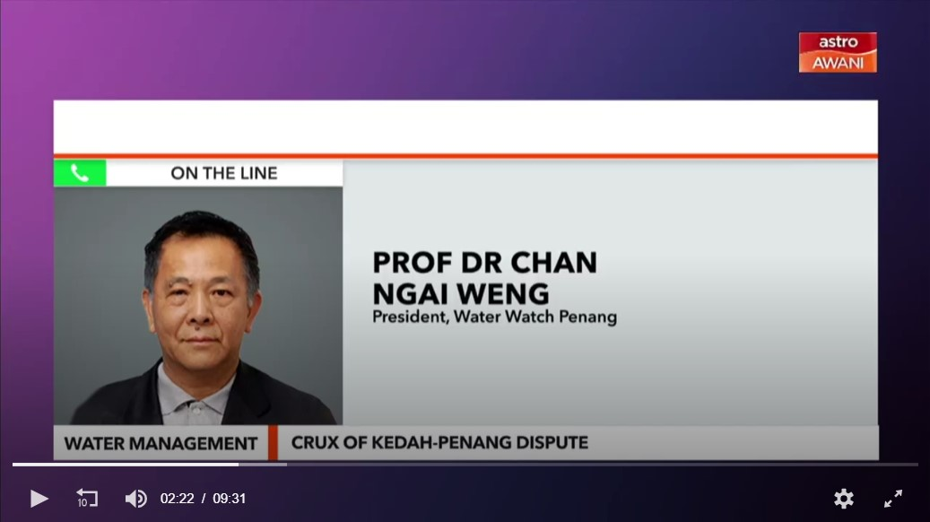 We're on Astro Awani!!  Consider This: Water Management (Part 1) - Crux of Kedah-Penang Dispute